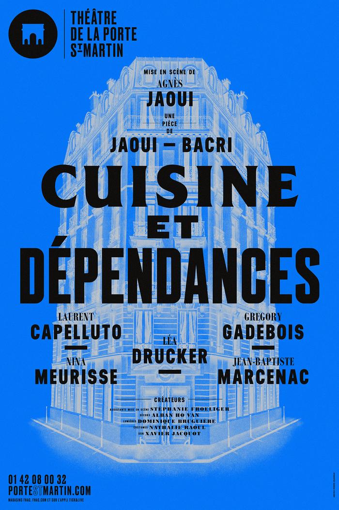 Cuisine et Dépendances — A2 Beckett, CG Triplett Black, Bodoni MT Black and Condensed Bold.