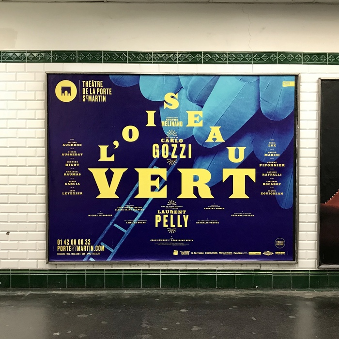 Poster in a Métro station in Paris.