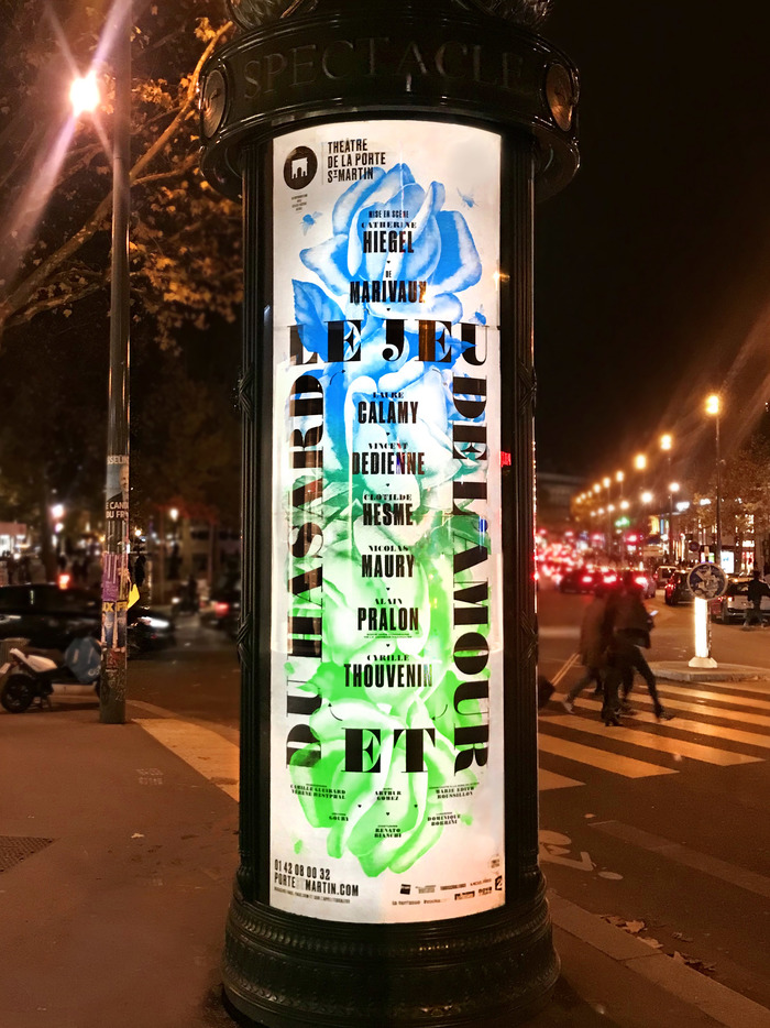 Poster adaptation for an illuminated Morris column.