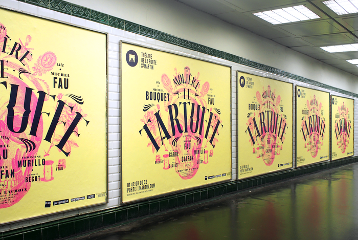 Posters in a Métro station in Paris.