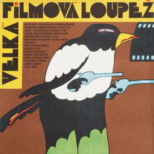 <cite>Velká filmová loupež (The Great Movie Robbery)</cite> Czechoslovak movie poster