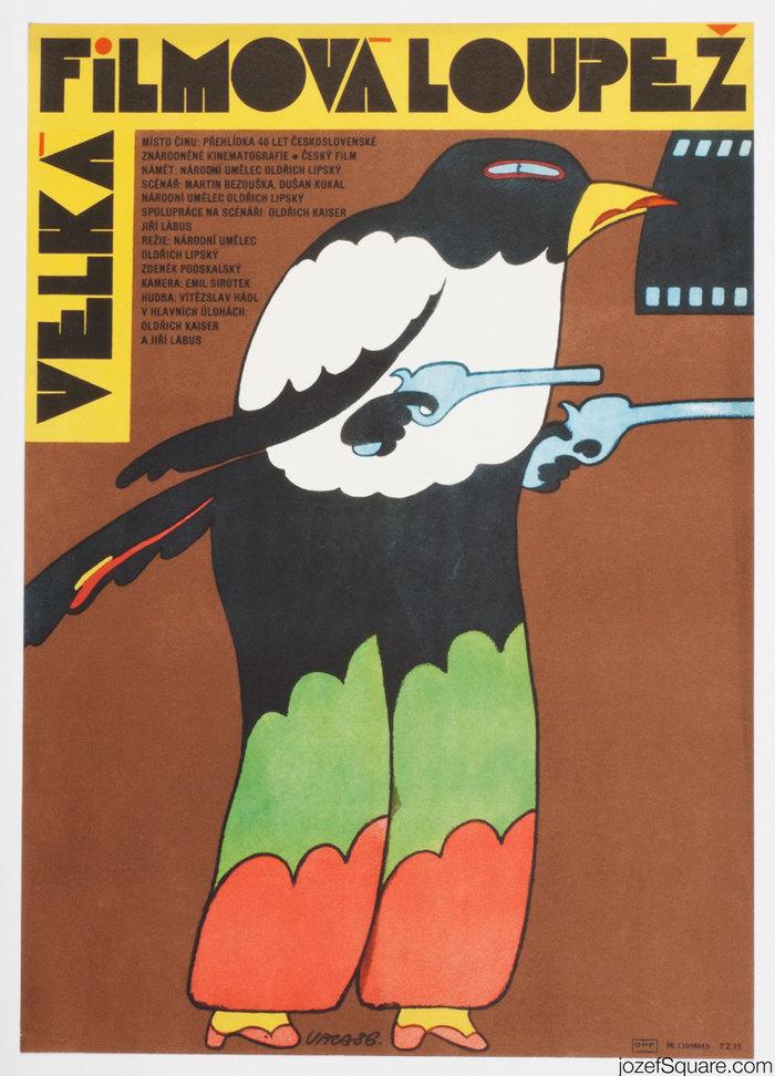 Velká filmová loupež (The Great Movie Robbery) Czechoslovak movie poster