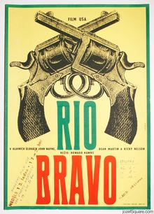 <cite>Rio Bravo</cite> Czechoslovak movie poster