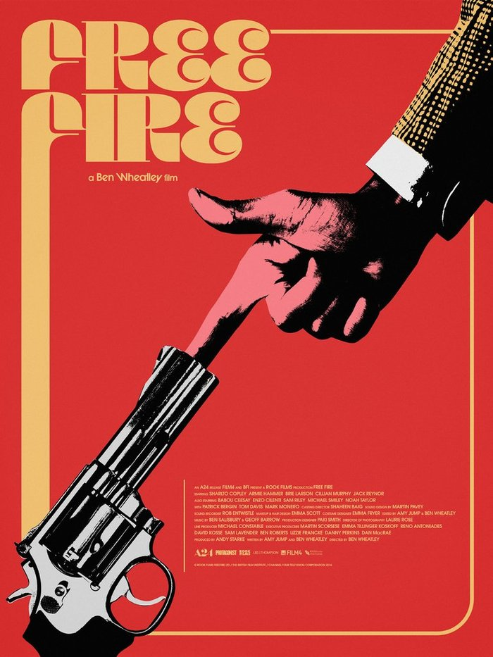 Free Fire movie poster (Mondo)