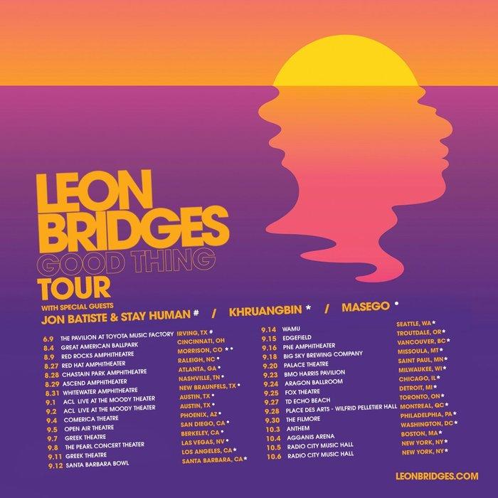 Leon Bridges – Good Thing album art 6