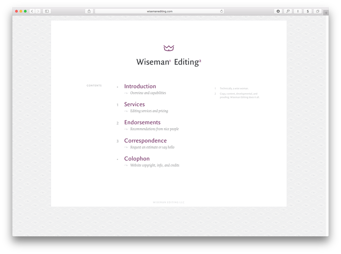 Wiseman Editing 1