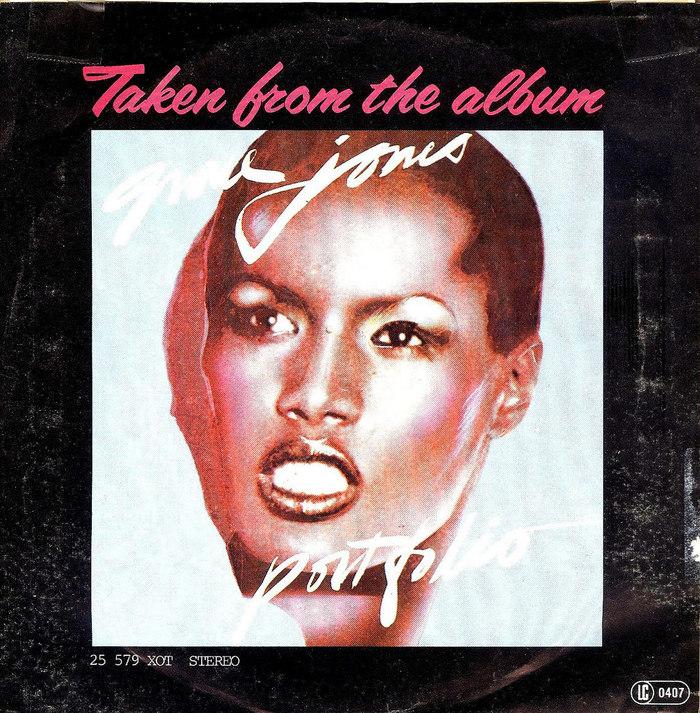 "Grace Jones ""La Vie En Rose"" / ""I Need A Man"" German single cover 2"