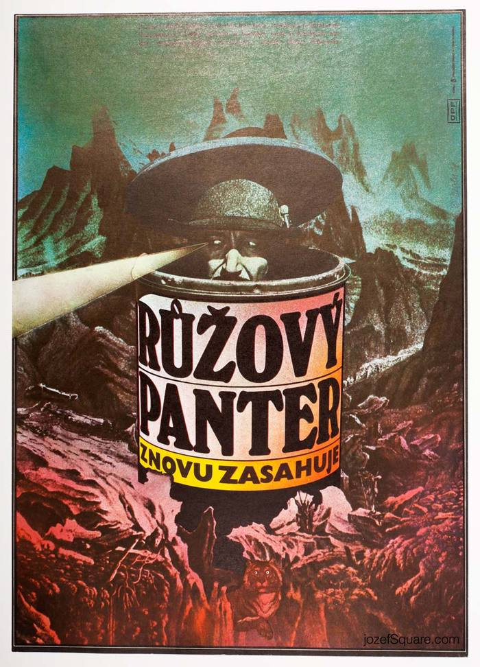 Návrat růžového pantera / The Return of the Pink Panther, 1977. Windsor and Busorama are spaced extremely loose and irregular to match Ziegler's spaced out imagery.
