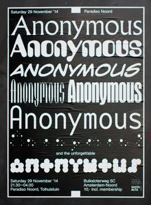 Anonymous, Paradiso Noord