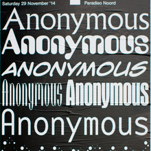 Anonymous, Paradiso Noord