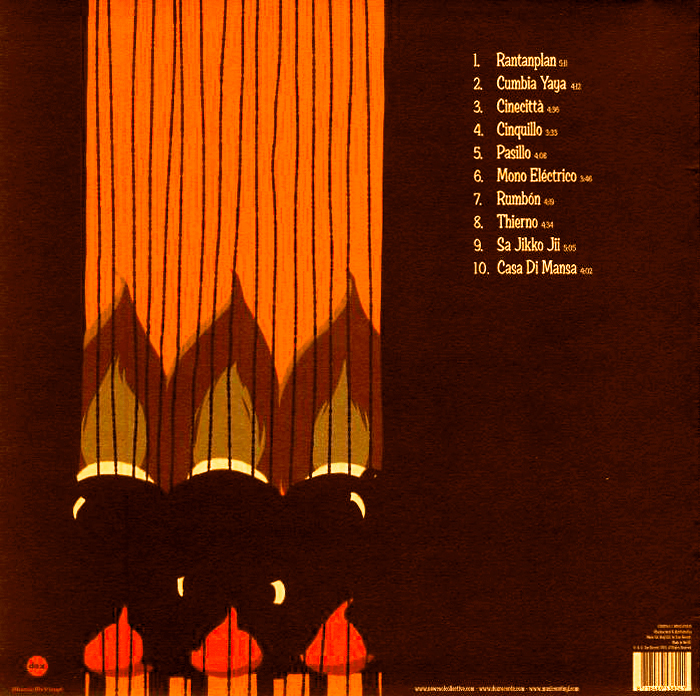 Back cover with the track list in Ed Brush.