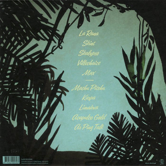 Back cover with the track list in Eubie Script.