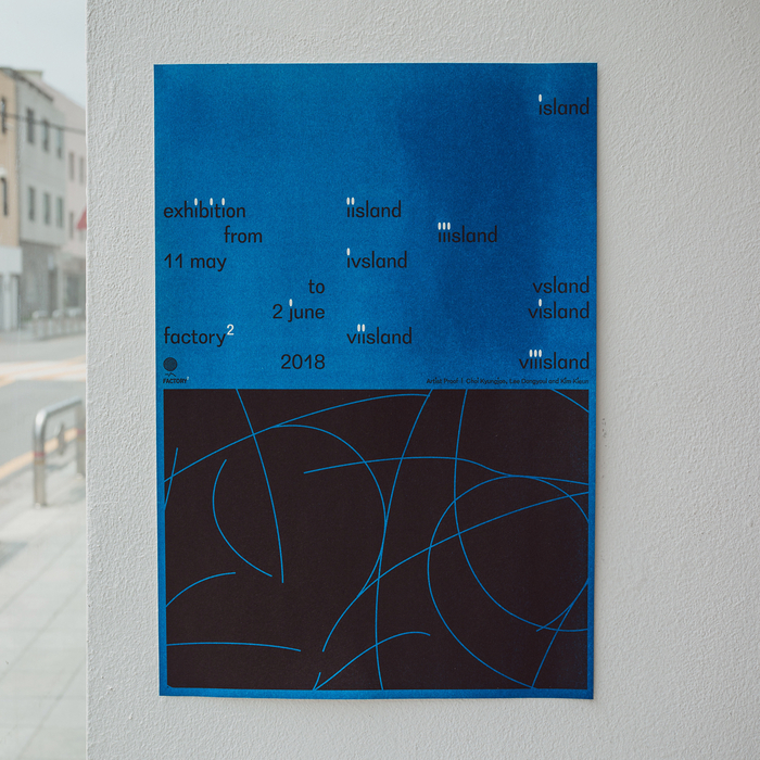 Poster, riso-printed by Corners Printed, Korea