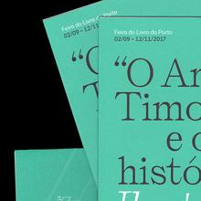 """<cite>""""O Anjo de Timor"""" e outras histórias</cite> exhibition pamphlet"""
