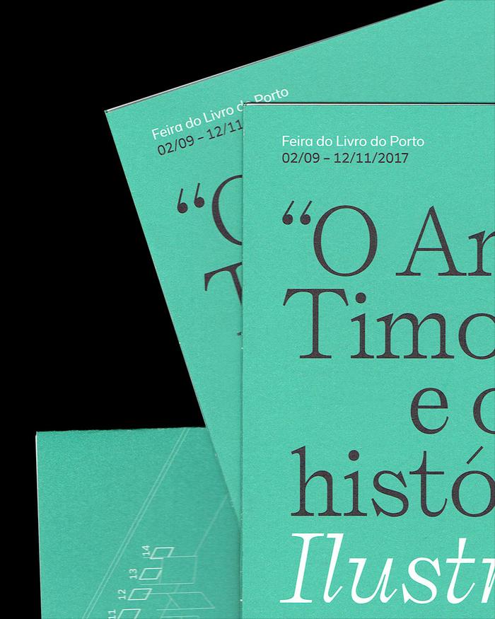 """""""O Anjo de Timor"""" e outras histórias exhibition pamphlet 1"""
