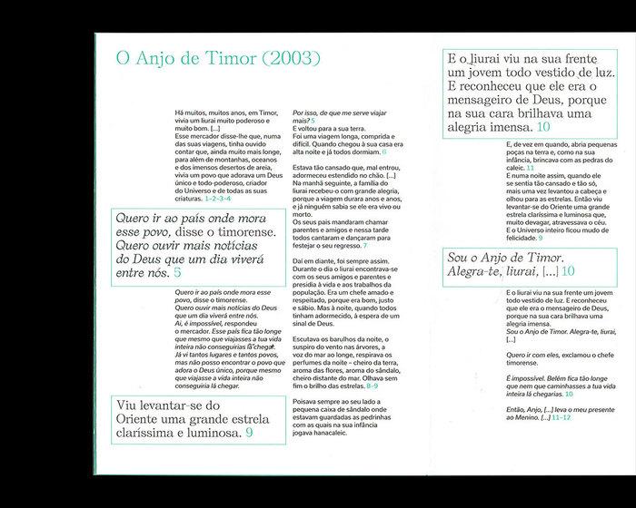 """""""O Anjo de Timor"""" e outras histórias exhibition pamphlet 3"""