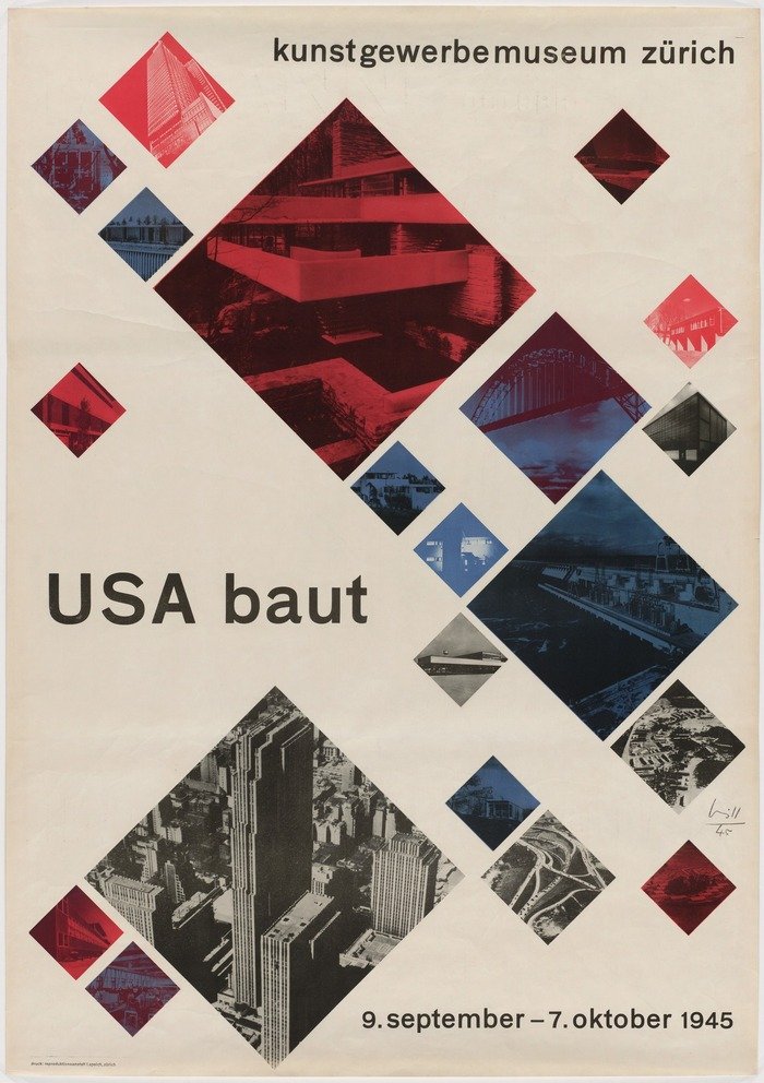 USA baut exhibition poster