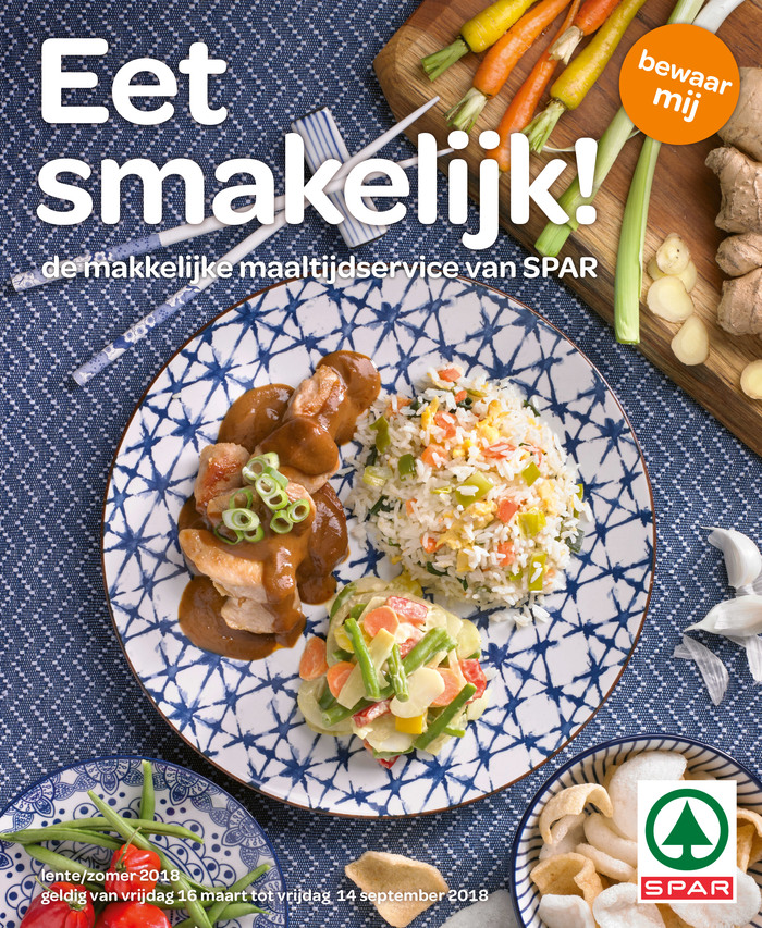 """Eet smakelijk!"" (Enjoy your meal!) – cover of a magazine with recipes."