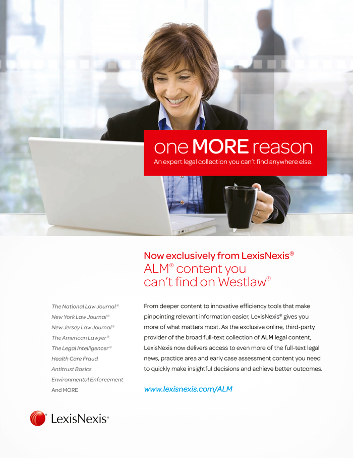Cover of a corporate brochure, LexisNexis Germany.
