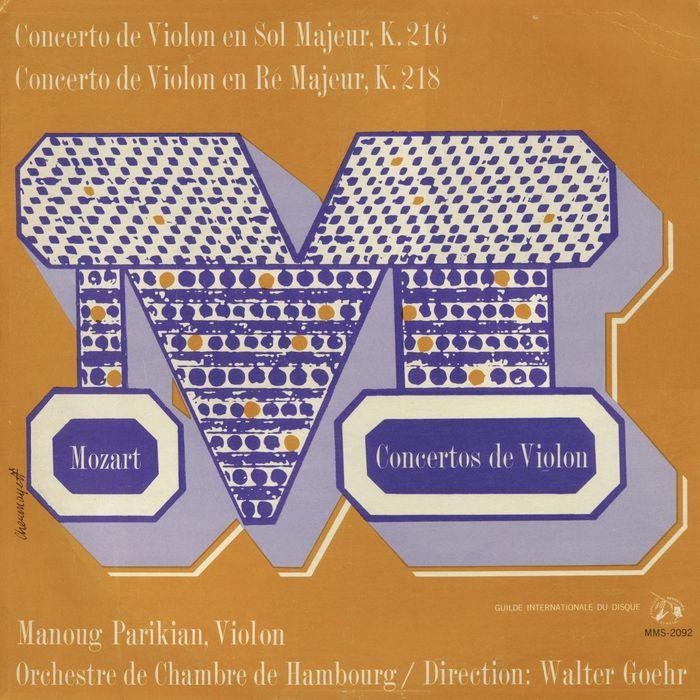 Mozart Violinkonzerte (Musical Masterpiece Society) album art 2