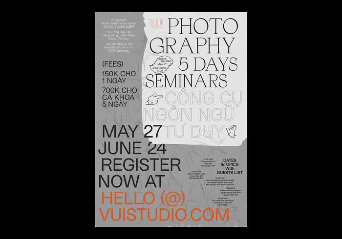 Photography seminars, VUI studio 1
