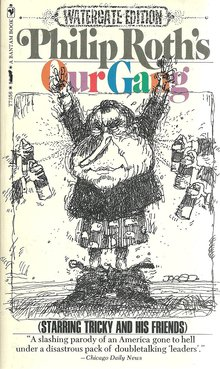 <cite>Our Gang</cite> by Philip Roth (1973 Bantam Books special Watergate edition)