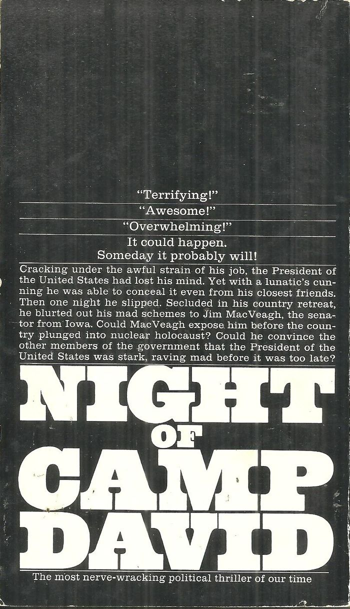 Night Of Camp David by Fletcher Knebel (Bantam) 2