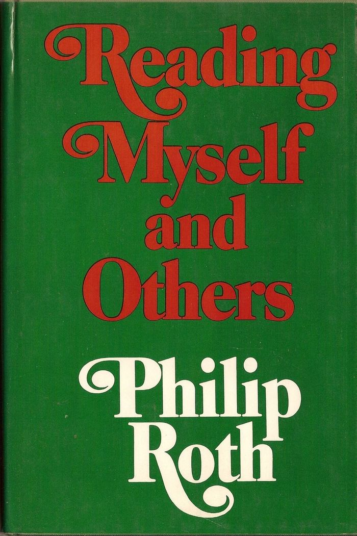 Reading Myself and Others, first US edition, Farrar, Straus and Giroux, 1975. The letterforms here are slightly different, with wider proportions, smaller caps, and longer ascenders. The swash ball terminals appear to be horizontally stretched.