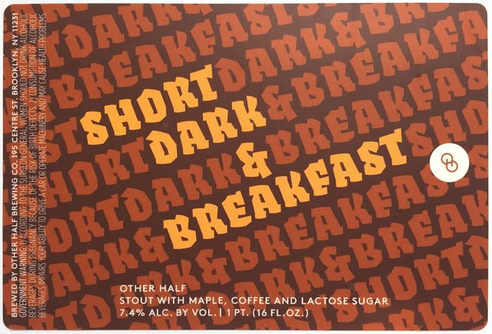 Short Dark stout series by Other Half 1
