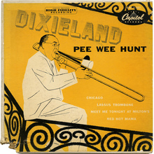 Pee Wee Hunt – <cite>Dixieland </cite>album art
