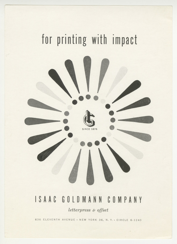 Isaac Goldmann Company ads 1