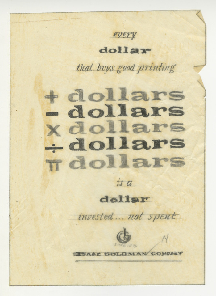 Isaac Goldmann Company ads 6