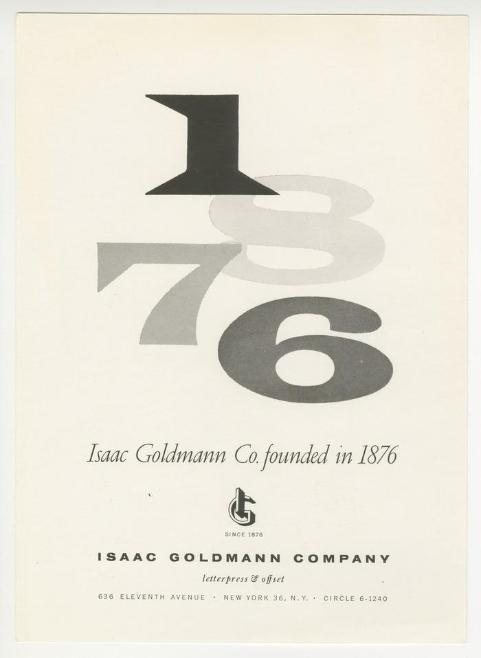 Isaac Goldmann Company ads 2