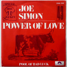 """Power of Love"" / ""Pool of Bad Luck"" by Joe Simon"