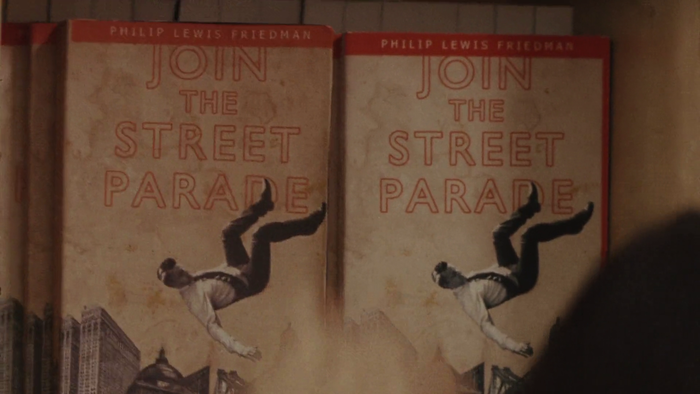 Philip Lewis Friedman's Join The Street Parade, in outlined Gill Sans caps.