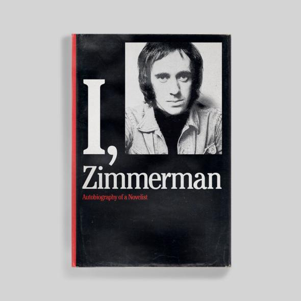 """Blanks: """"I, Zimmerman apes the cover of Roth's autobiography, The Facts, which is designed by Milton Glaser, though I didn't get the font quite right."""" It uses (compressed) ITC Cheltenham."""