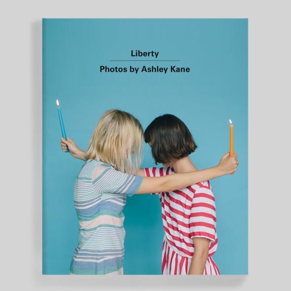 Ashley Kane's photo book Liberty. Cover set in Univers Bold.