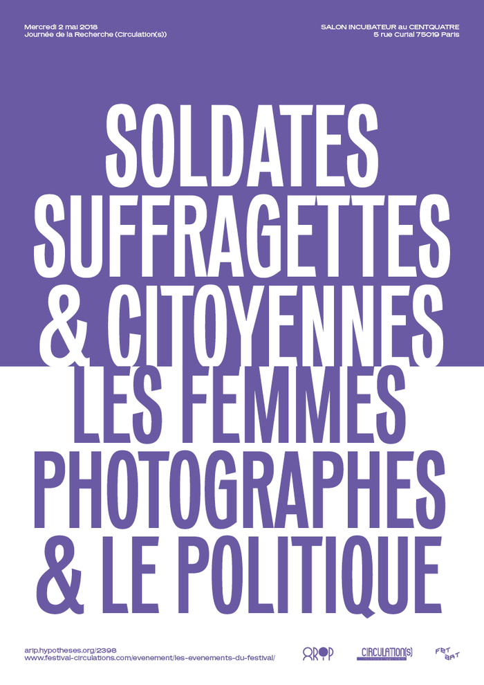 """Soldates, Suffragettes & Citoyennes"" poster 1"