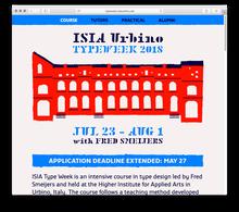 ISIA Urbino Type Week 2018