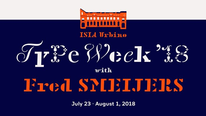 ISIA Urbino Type Week 2018 3