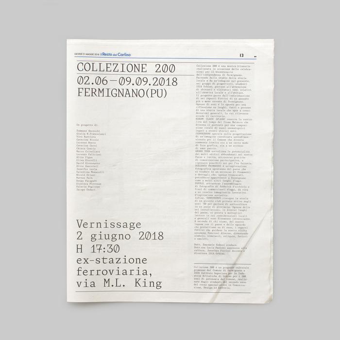 Collezione 200 for ISIA Urbino 1