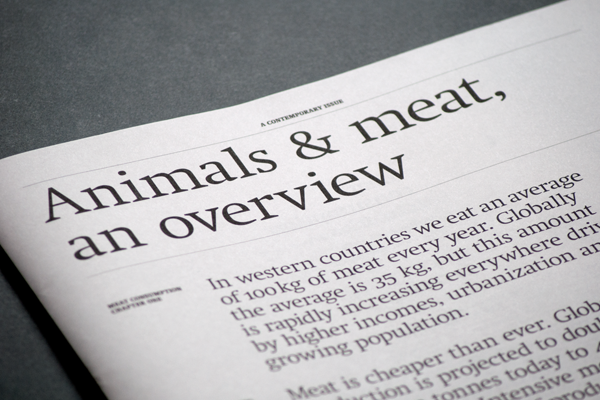 Animals & meat, an overview 1