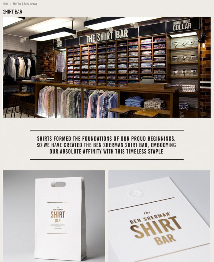 Ben Sherman website 2
