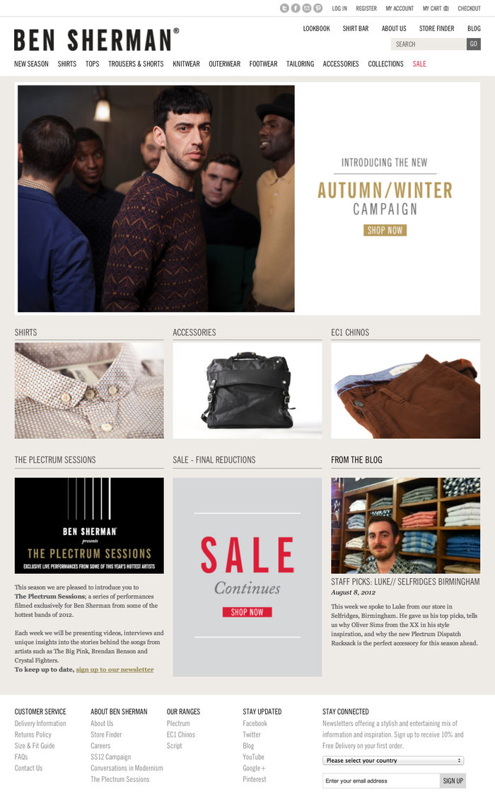 Ben Sherman website 5