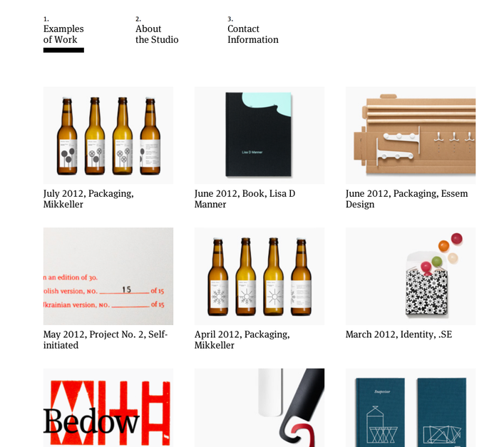 Bedow portfolio website 1
