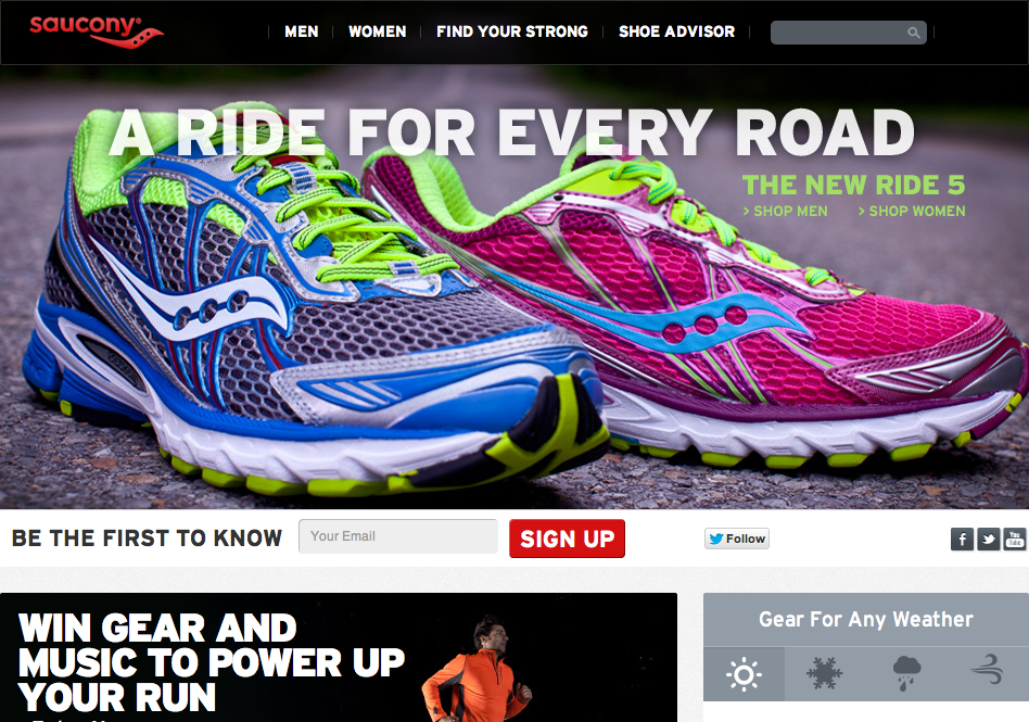 Saucony.com Website - Fonts In Use 6a055f561