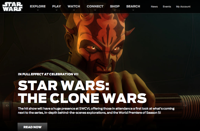 StarWars.com Website 1
