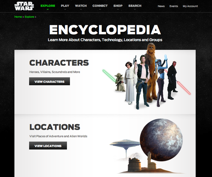 StarWars.com Website 3