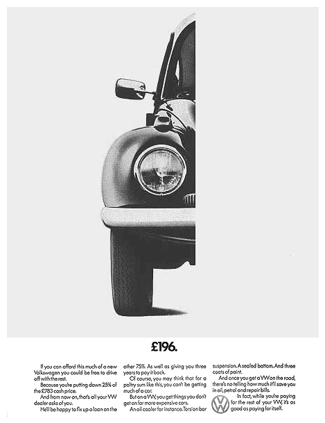Volkswagen of America ads, 1960–66 3