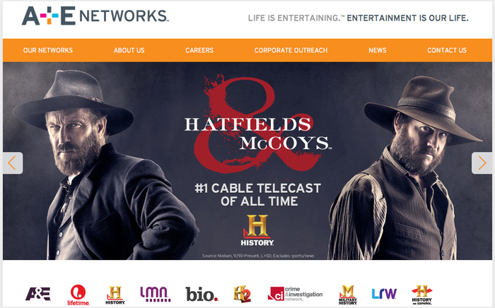 A & E networks Website 4